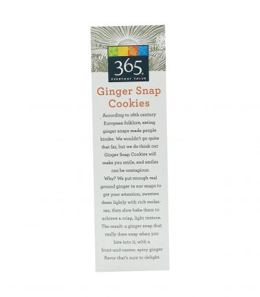 365 Everyday Value® Ginger Snap Cookies, 10 oz, 365 Everyday Value® _ Whole Foods Market 4